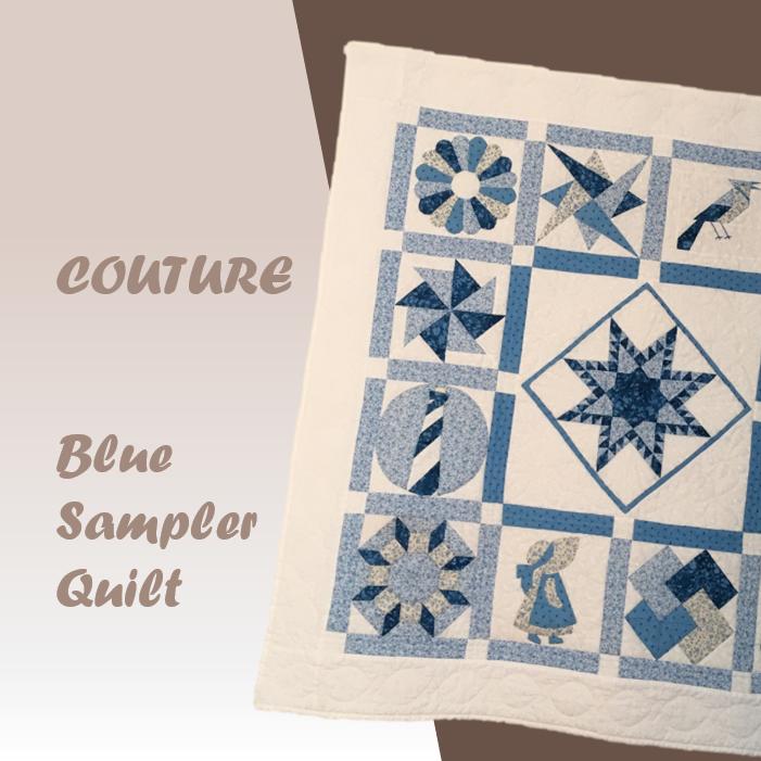 blue sampler quilt patchwork