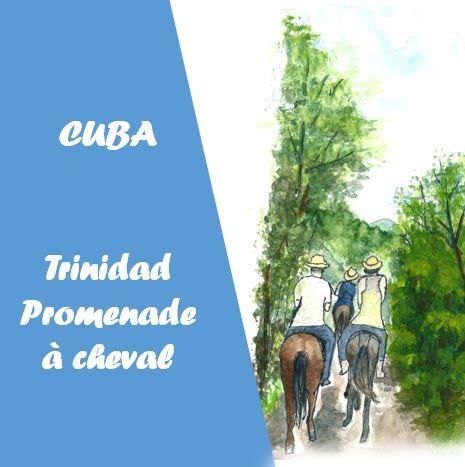 cuba Trinidad Ballade à cheval dans la vallée de los Ingenios