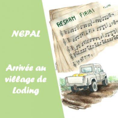 arrivée au village de Loding