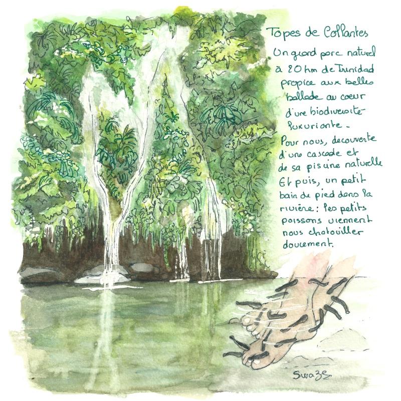cuba - baignade dans une cascade