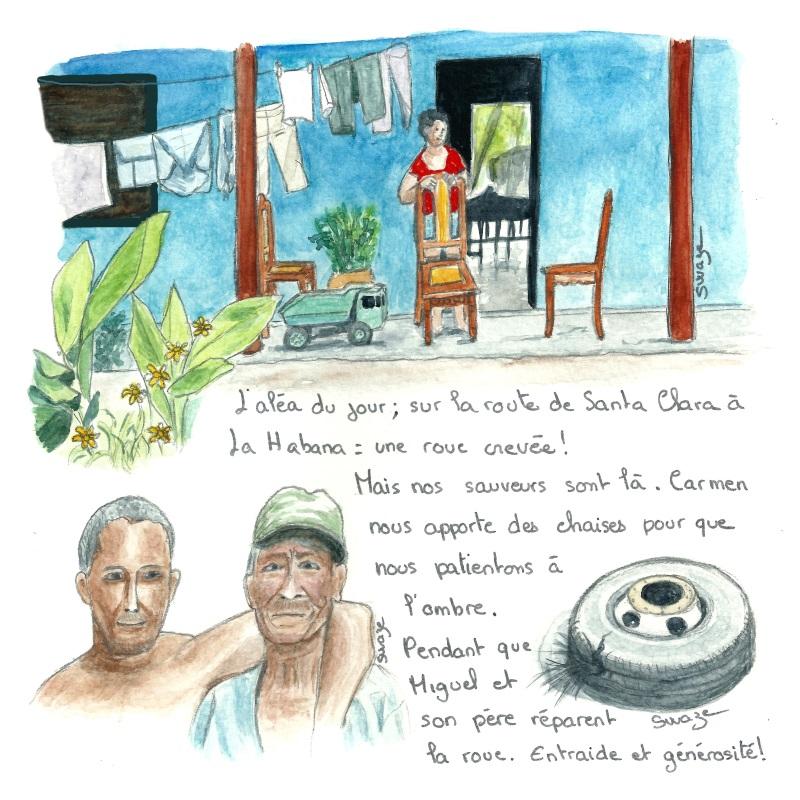 Cuba - Manicaragua-L'histoire d'un pneu crevé