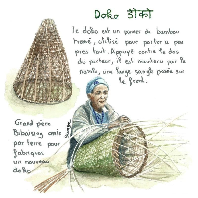 Nepal - Fabrication d'un doko
