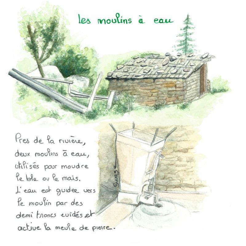 Le moulin à eau du village