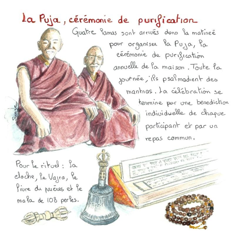 La puja, une cérémonie de purification