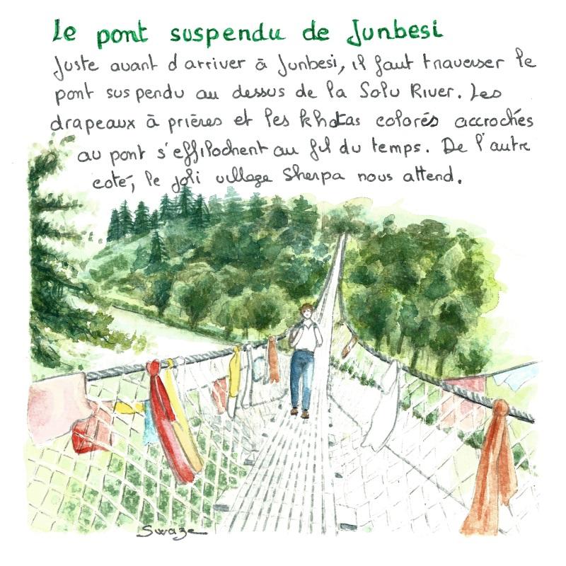 Le pont suspendu de Junbesi