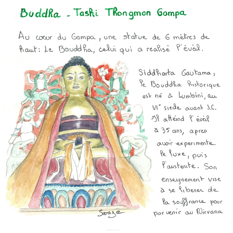 Le bouddha de Tashi Thongmon,