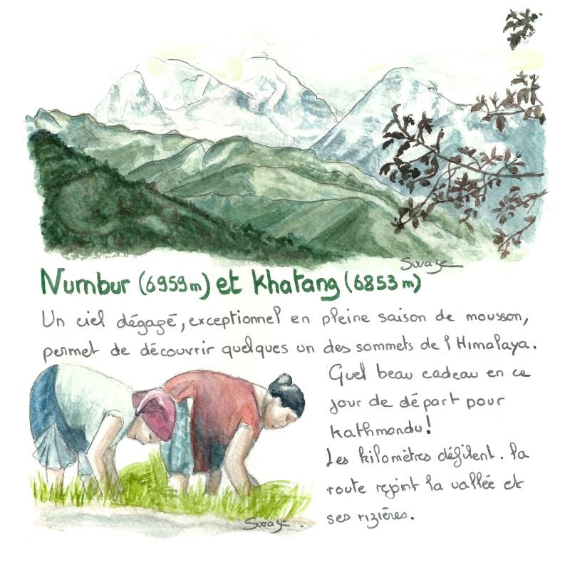 Numbur et Khatang, hauts sommets de l'Himalaya