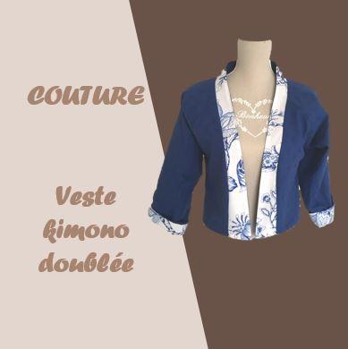 veste kimono courte doublée