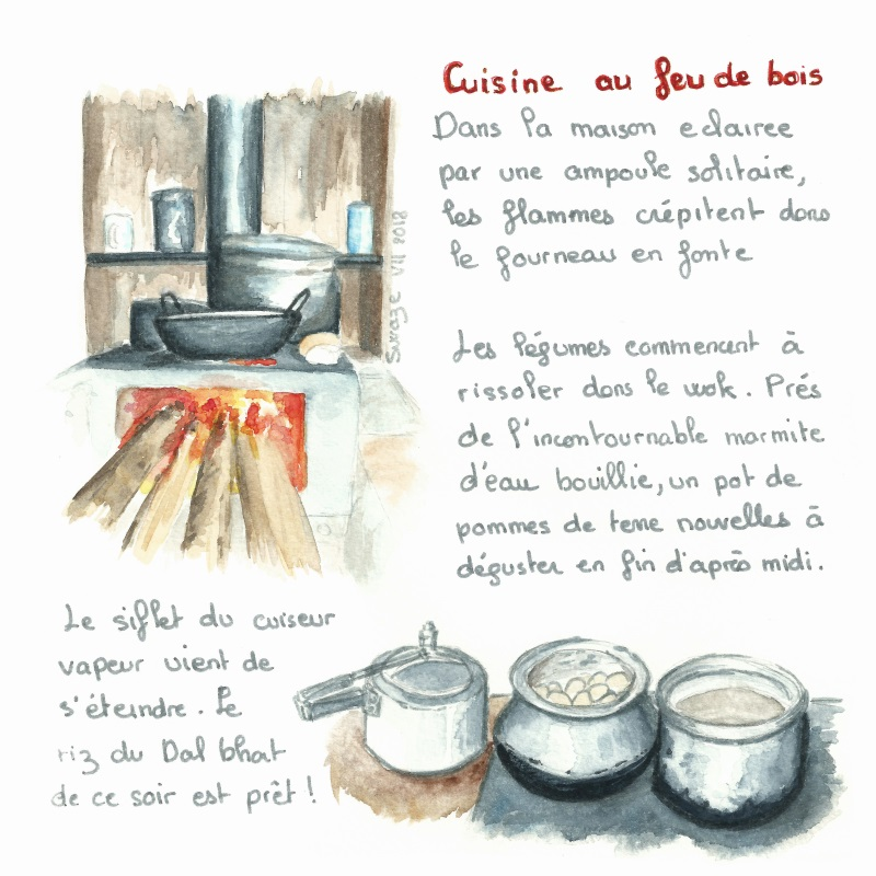 Pike Homestay - la cuisine au feu de bois