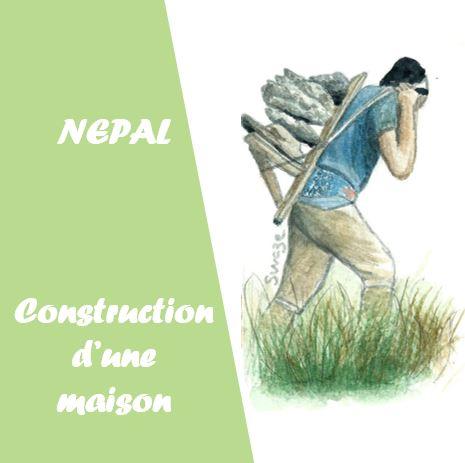 Nepal - construction d'une maison dans le Solukhumbu
