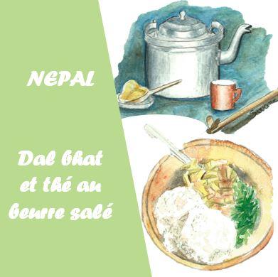 Dal bhat et thé au beurre salé népalais