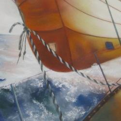 levé de soleil vue d'un voilier