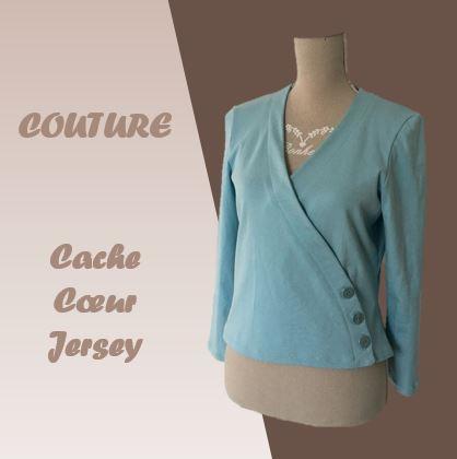 couture - veste cache coeur jersey