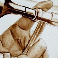 Trombone à l'aquarelle