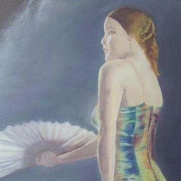 Danseuse de Flamenco au Pastel