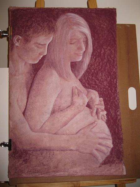 Couple attendant un bébé